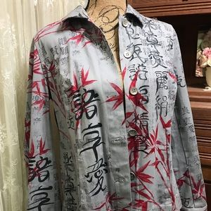 Jean Grey, Black and Red Oriental Jacket